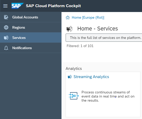 SAP Streaming Analytics